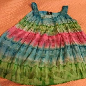 NF for NEW GENERATION sleeveless tunic TYE DYED